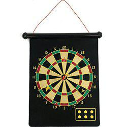 Double Sided Hanging Dart Board Game for Whole Family -