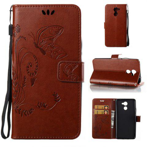 Store Wkae Flowers Embossing Pattern Pu Leather Flip Stand Case Cover for Huawei Y7 Prime And Y7