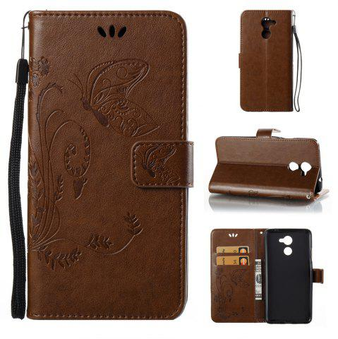 Discount Wkae Flowers Embossing Pattern Pu Leather Flip Stand Case Cover for Huawei Y7 Prime And Y7