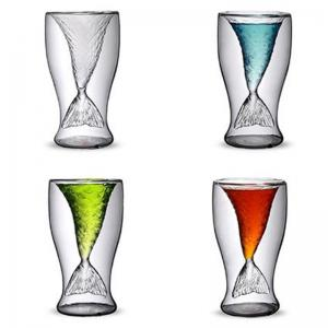 Transparent Creative Mermaid Shape Glass Heat-resistance Cup for Beer and Wine -