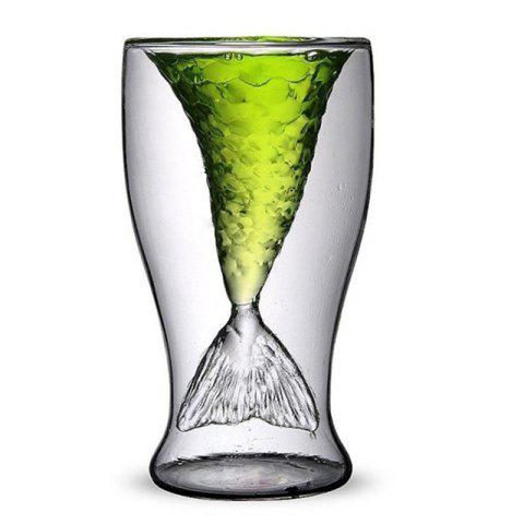 Online Transparent Creative Mermaid Shape Glass Heat-resistance Cup for Beer and Wine