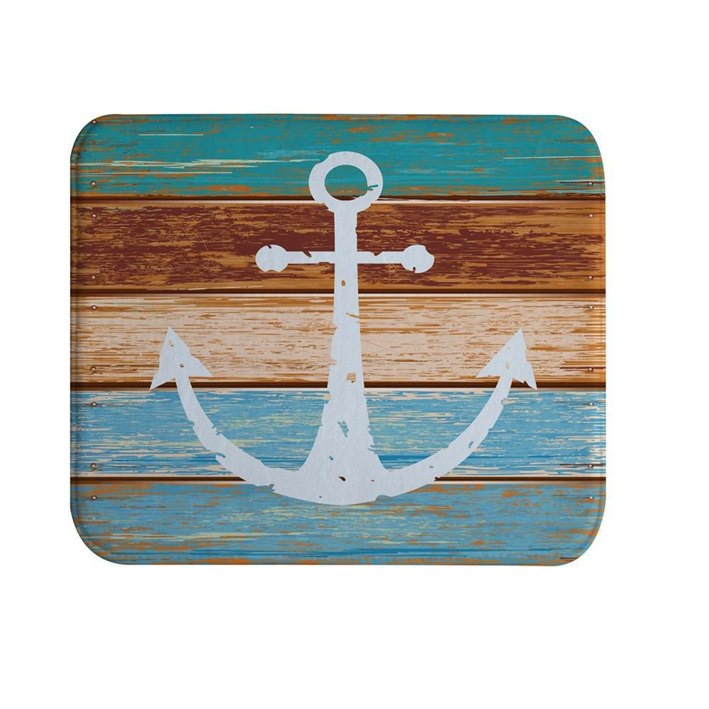 Unique Board Anchor Super Soft Non-Slip Bath Door Mat Machine Washable Quickly Drying