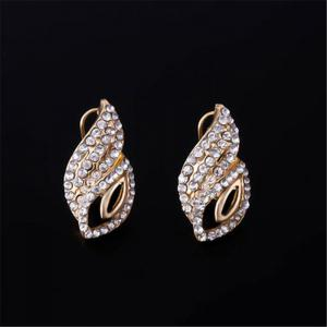 Fashion Women Jewelry Sets Wedding Party Gold Plated Chain Necklace Earring -