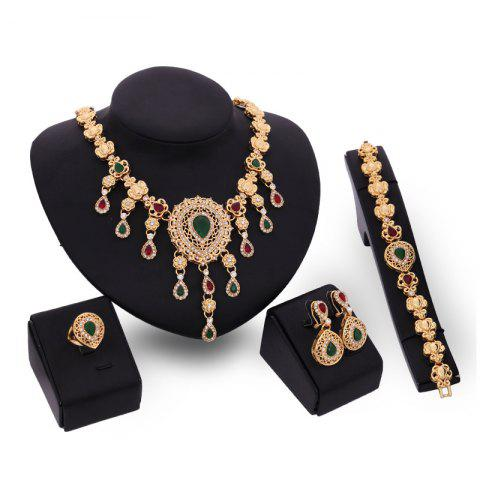 Shop Fashion Women Jewelry Sets Bride Party Gold Plated Chain Necklace Earring