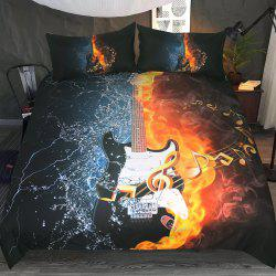 Bass Guitar Bedding Housse de couette Set Digital Print 3pcs -