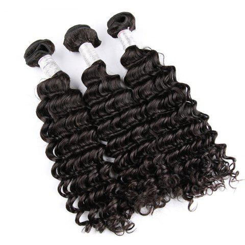 Store Natural Black Deep Wave Brazilian Virgin Human Hair Weave Extensions Bundles