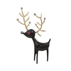 PULATU Diamond Black Deer Brooch XZ-B1L6-11 -