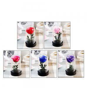 Transparent Glass Luminous Ornaments Creative Rose Soap Star Light -