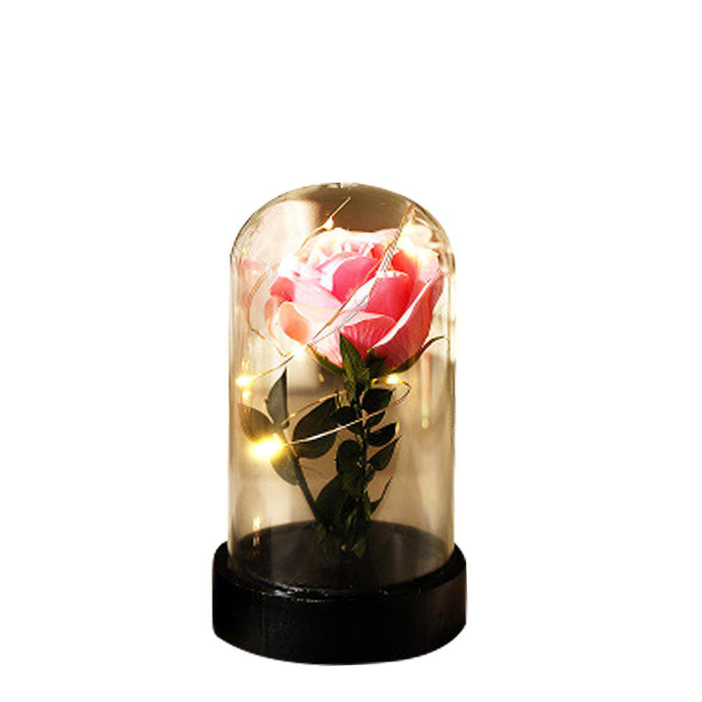 Shop Transparent Glass Luminous Ornaments Creative Rose Soap Star Light