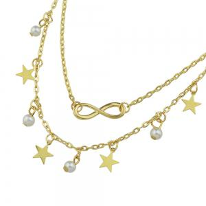 Simulated-pearl Star Charm Anklets Barefoot Sandals -