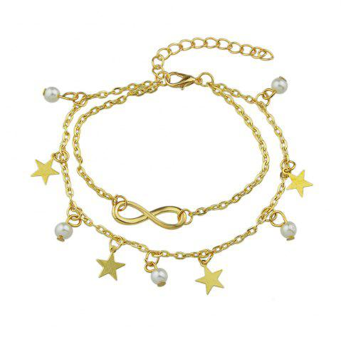 Affordable Simulated-pearl Star Charm Anklets Barefoot Sandals