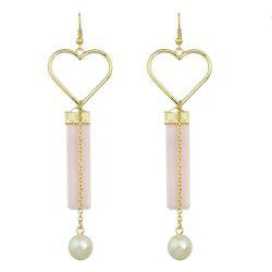 Heart Shape Long Chain Earrings -