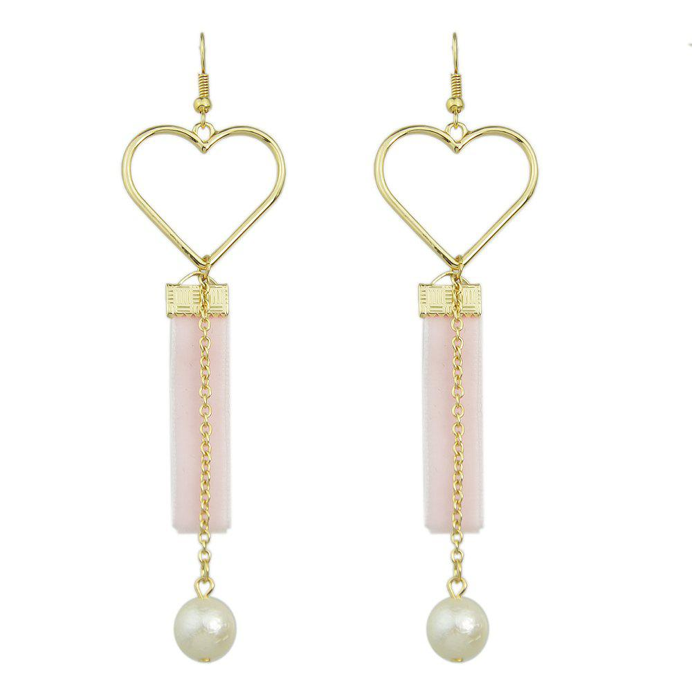 Online Heart Shape Long Chain Earrings