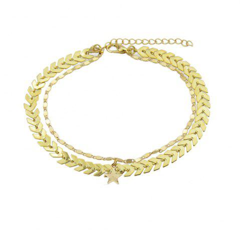 Outfits Gold Silver Color Chain Star Charm Anklets