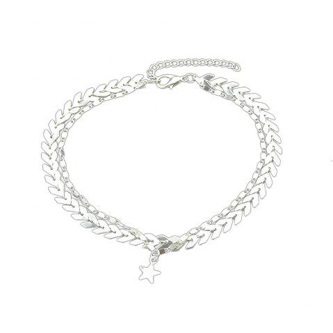 Buy Gold Silver Color Chain Star Charm Anklets