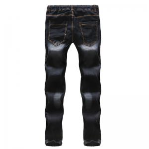 2018 New Men's Fashion Elasticated Belt Casual Jeans -