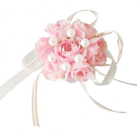 Outfit New Rose Emulational Pearl Wrist Flower Decoration Wedding Special Occasion Use