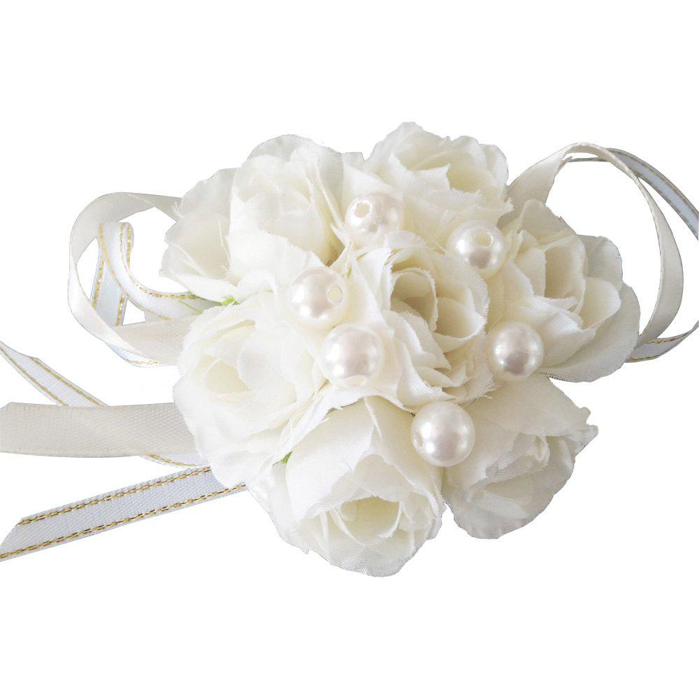 Store New Rose Emulational Pearl Wrist Flower Decoration Wedding Special Occasion Use