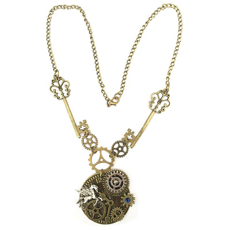 Affordable New Tianma Gear Mechanical Accessories Steampunk Necklaces