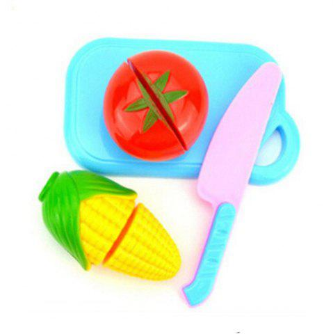 Pretend Kitchen Cutting Set New Vegetable Food Reusable Role Play