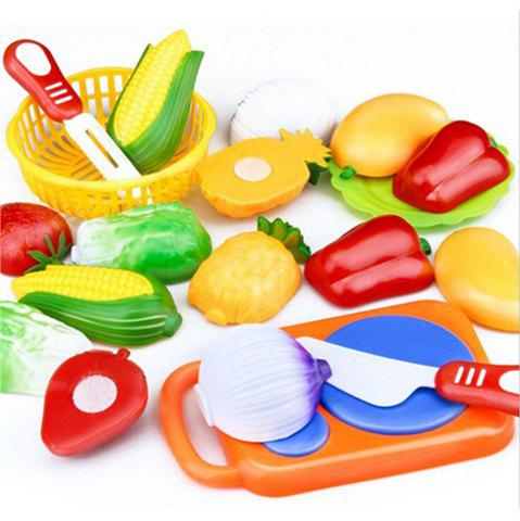 Kitchen Pretend Play Toys Cutting Vegetables Food