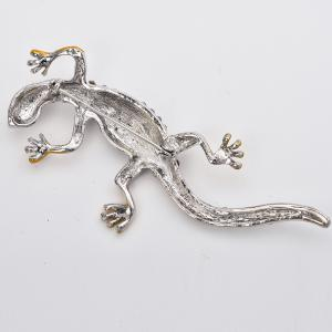 Mode Gecko Broche pour homme strass broches Broches animaux bijoux cadeau -