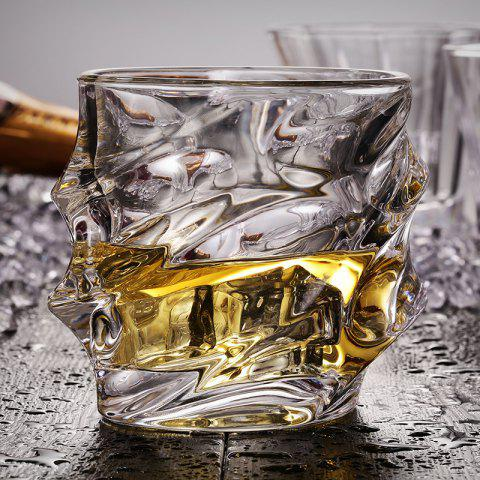 Affordable Cool Whiskey Glass Lead Free Wavy Shape Crystal Cup Drinkware for Brandy Vodaka