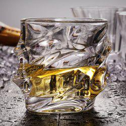 Cool Whiskey Glass Lead Free Wavy Shape Crystal Cup Drinkware for Brandy Vodaka -