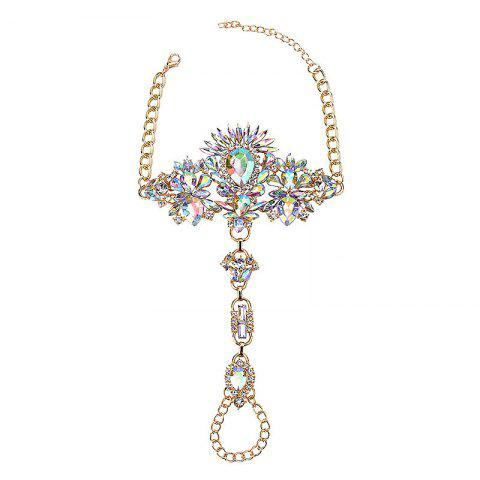 Sale Exaggerated Personality New Alloy Gem Diamond Inserts The Female Foot Chain
