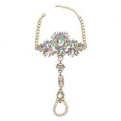 Exaggerated Personality New Alloy Gem Diamond Inserts The Female Foot Chain -