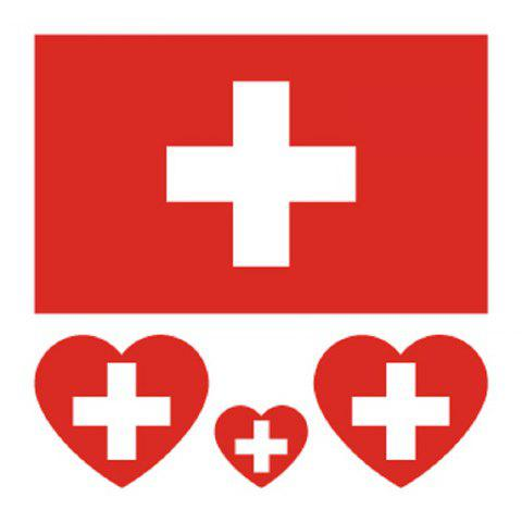Fashion Soccer Swiss Flag Tattoo Body Sticker