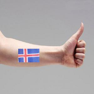 Football Iceland Flag Tattoo Body Stickers -