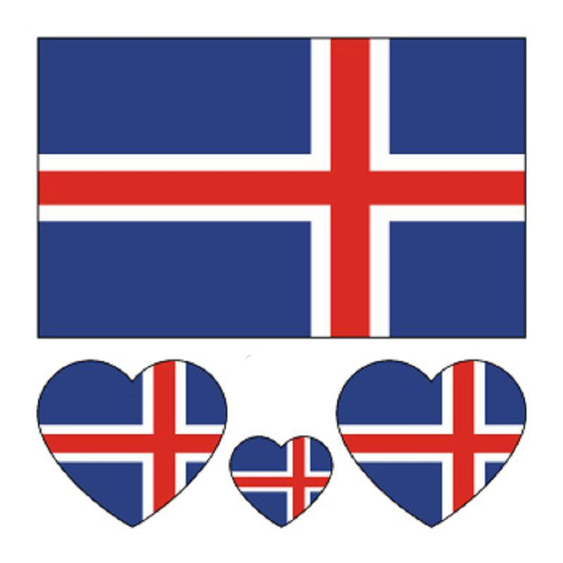 Cheap Football Iceland Flag Tattoo Body Stickers