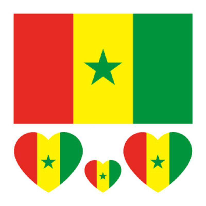 Shop Soccer Senegalese Flag Tattoo Body Sticker