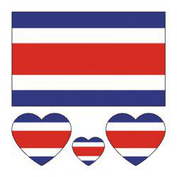 Costa Rican Flag Body Tattoo Stickers -