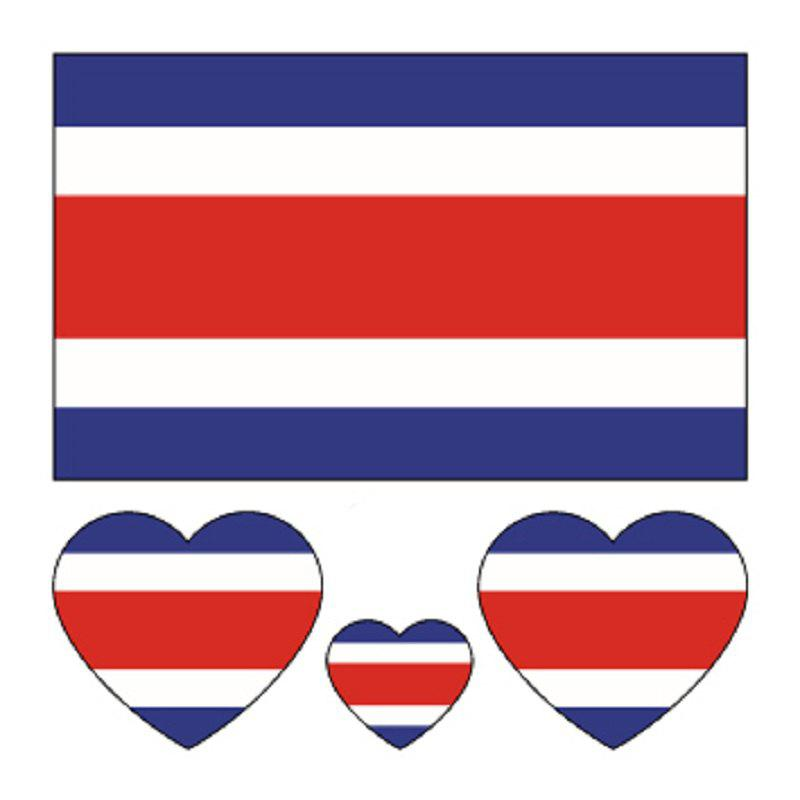 Shop Costa Rican Flag Body Tattoo Stickers