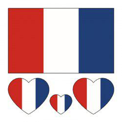 Autocollants de corps de tatouage de drapeau du football France France -