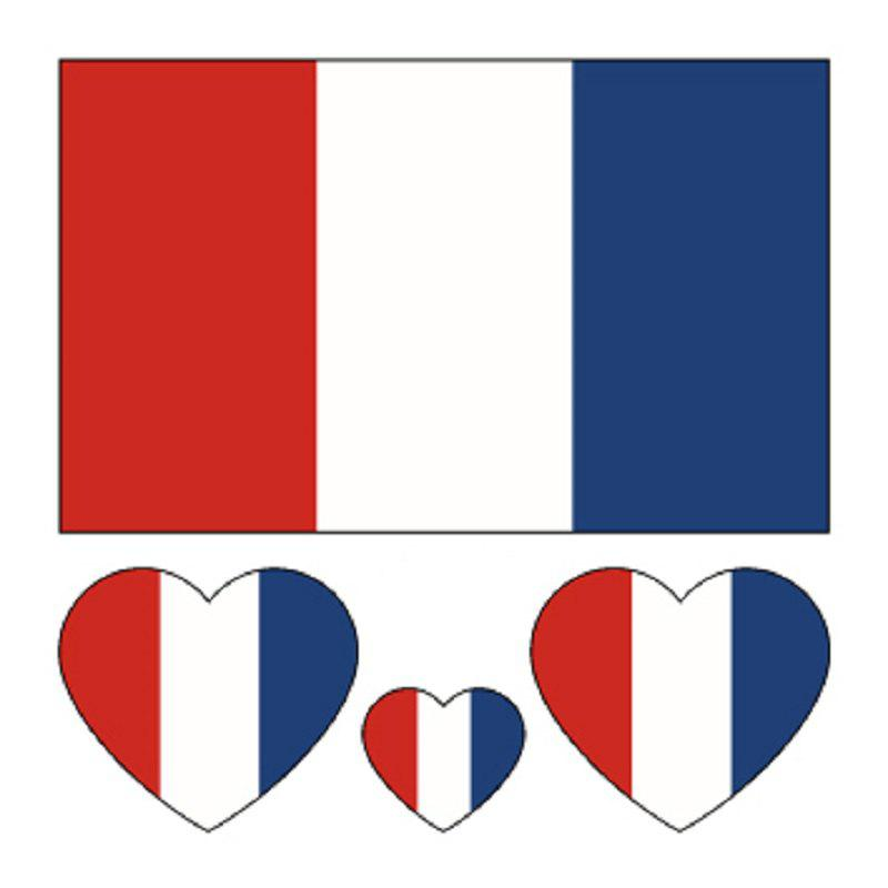 Online Football France Flag Tattoo Body Stickers