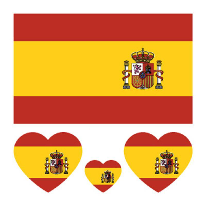 Outfit Football Spanish Flag Tattoo Body Sticker