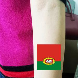 Portugal Flag Football Body Tattoo Stickers -