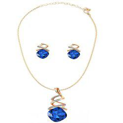 Newsryle Austrian Water Drop Zircon Crystal Jewelry Set -
