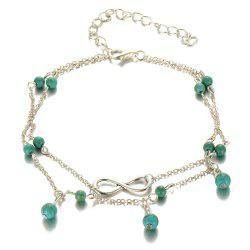 Mode Simple Multi-Layer Turquoise Pendentif Cheville -