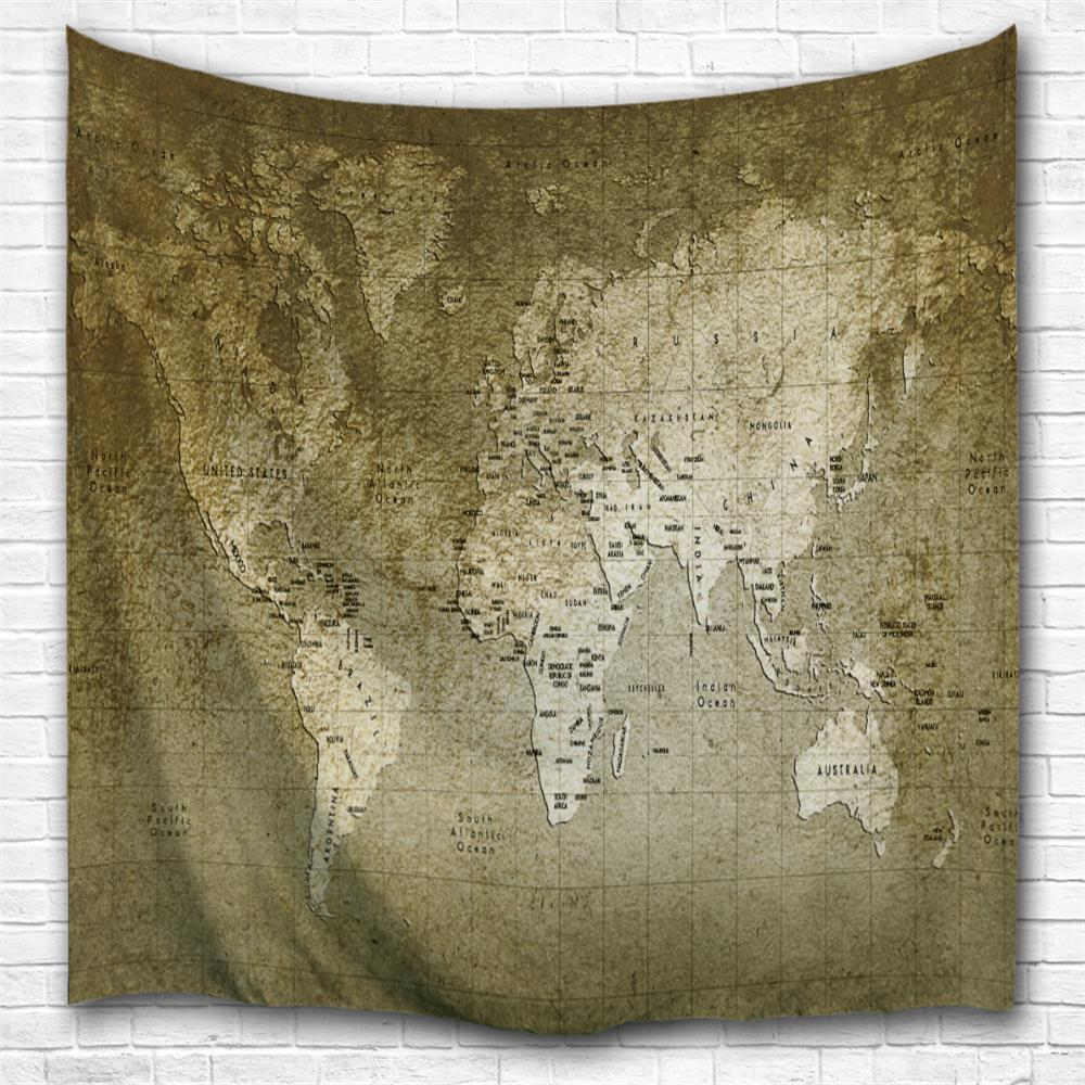 Multi a w153cmxl102cm old world map 3d printing home wall hanging trendy old world map 3d printing home wall hanging tapestry for decoration gumiabroncs Choice Image