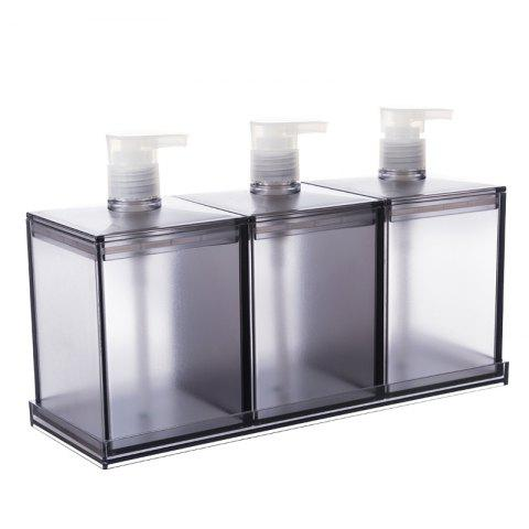 Best European Large-Capacity Plastic Lotion Bottle Three-Piece Storage Box