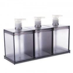 European Large-Capacity Plastic Lotion Bottle Three-Piece Storage Box -