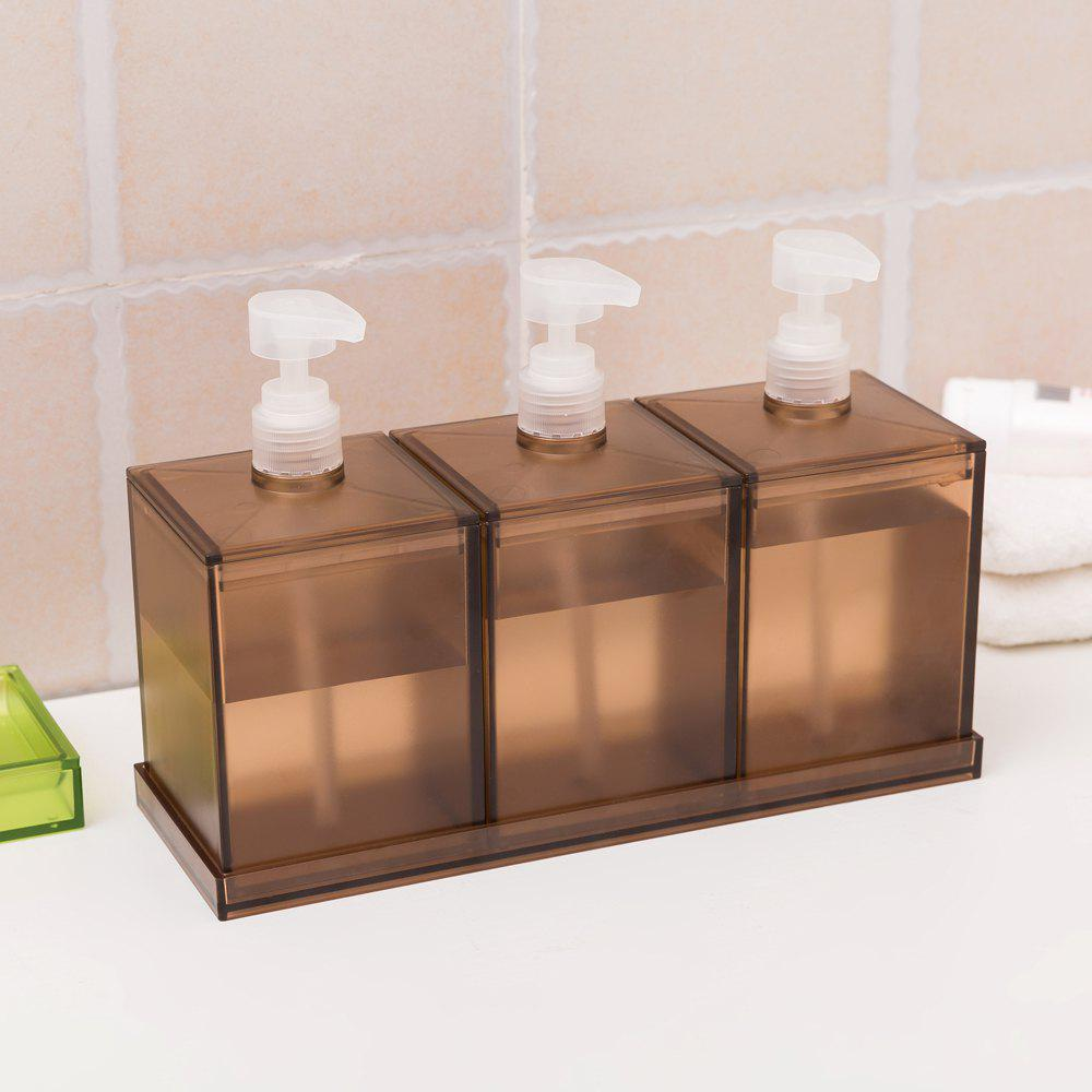 Discount European Large-Capacity Plastic Lotion Bottle Three-Piece Storage Box