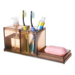 Creative Bathroom Toothbrush Case Lotion Soap Box Three Pieces -
