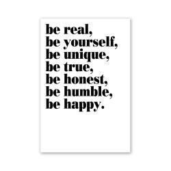 W254 Letters Unframed Wall Canvas Prints for Home Decoration -