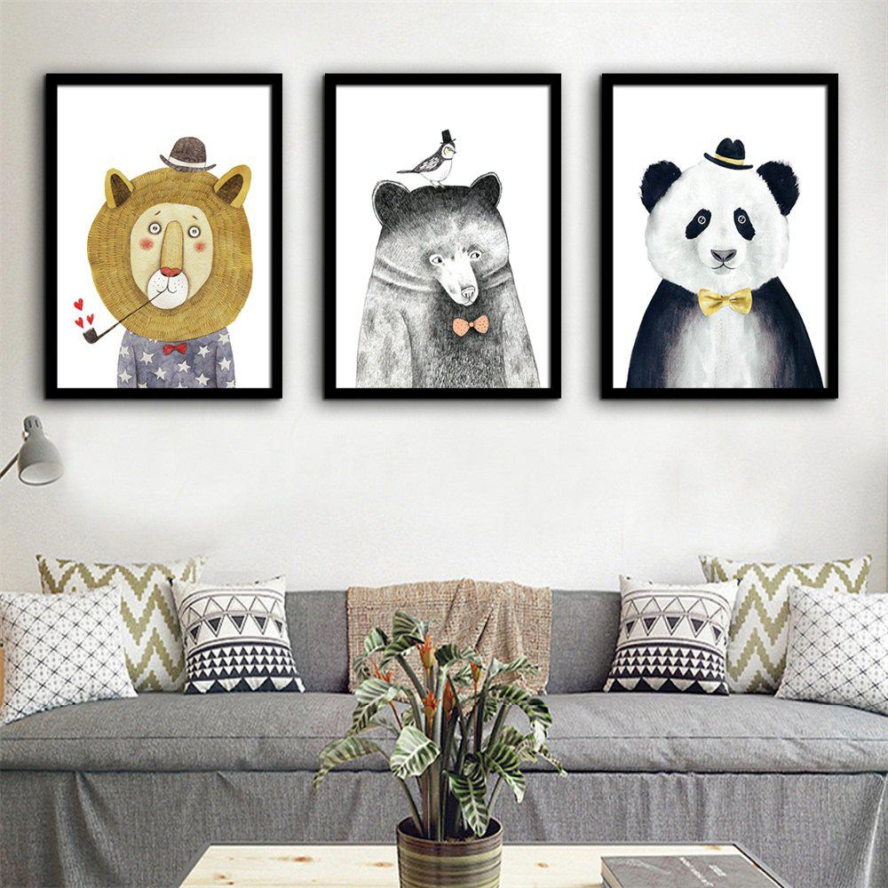 2018 Special Design Frame Paintings Small Animals Print 3pcs In ...