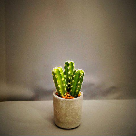 Chic Artificial Succulents Green Potted Plant